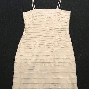 NWOT - Off White Layered Dress (knee length)